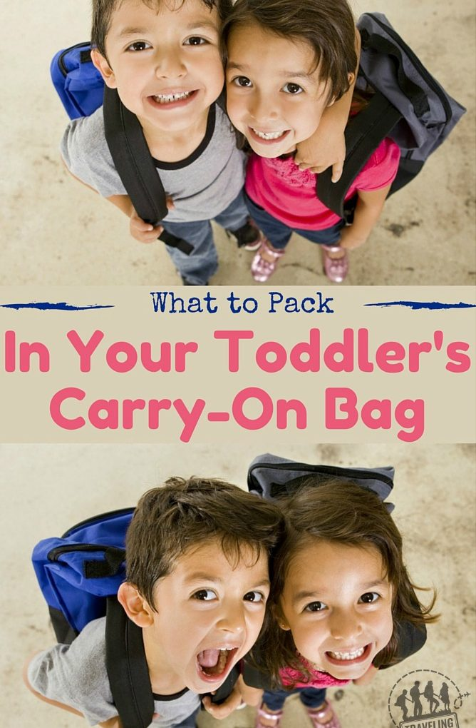 What To Pack In Your Toddler's Carry On Bag