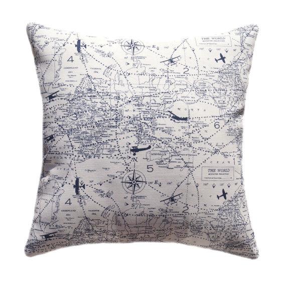 blue airplane pillow