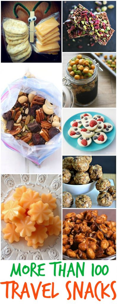 more than 100 travel snack ideas great for travel food