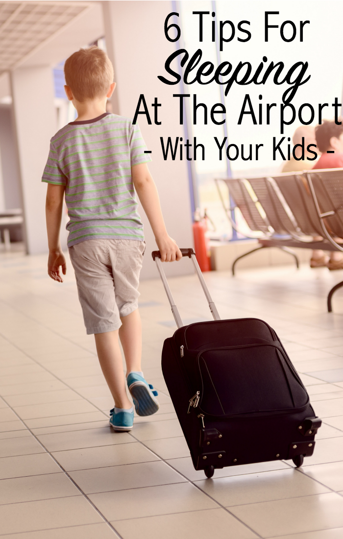 tips for sleeping at the airport with your kids