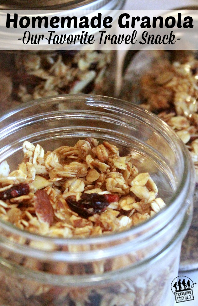 homemade travel snack granola