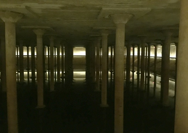 15 million gallon water cistern underneath Houston (you can tour it!)